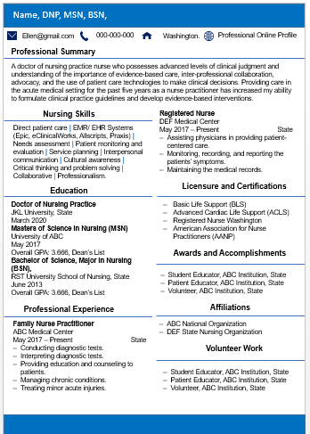 Modern Nursing Resume Writing Services | Resume Example| ATS Friendly